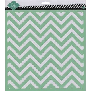 "Heidi Swapp Mixed Media Stencil 12""X12""-Chevron"