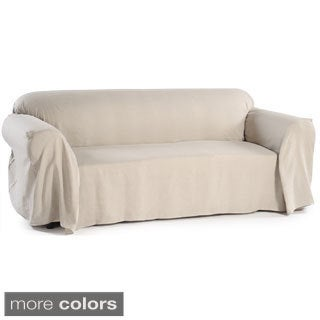 Washable Linen Loveseat Slipcover Throw