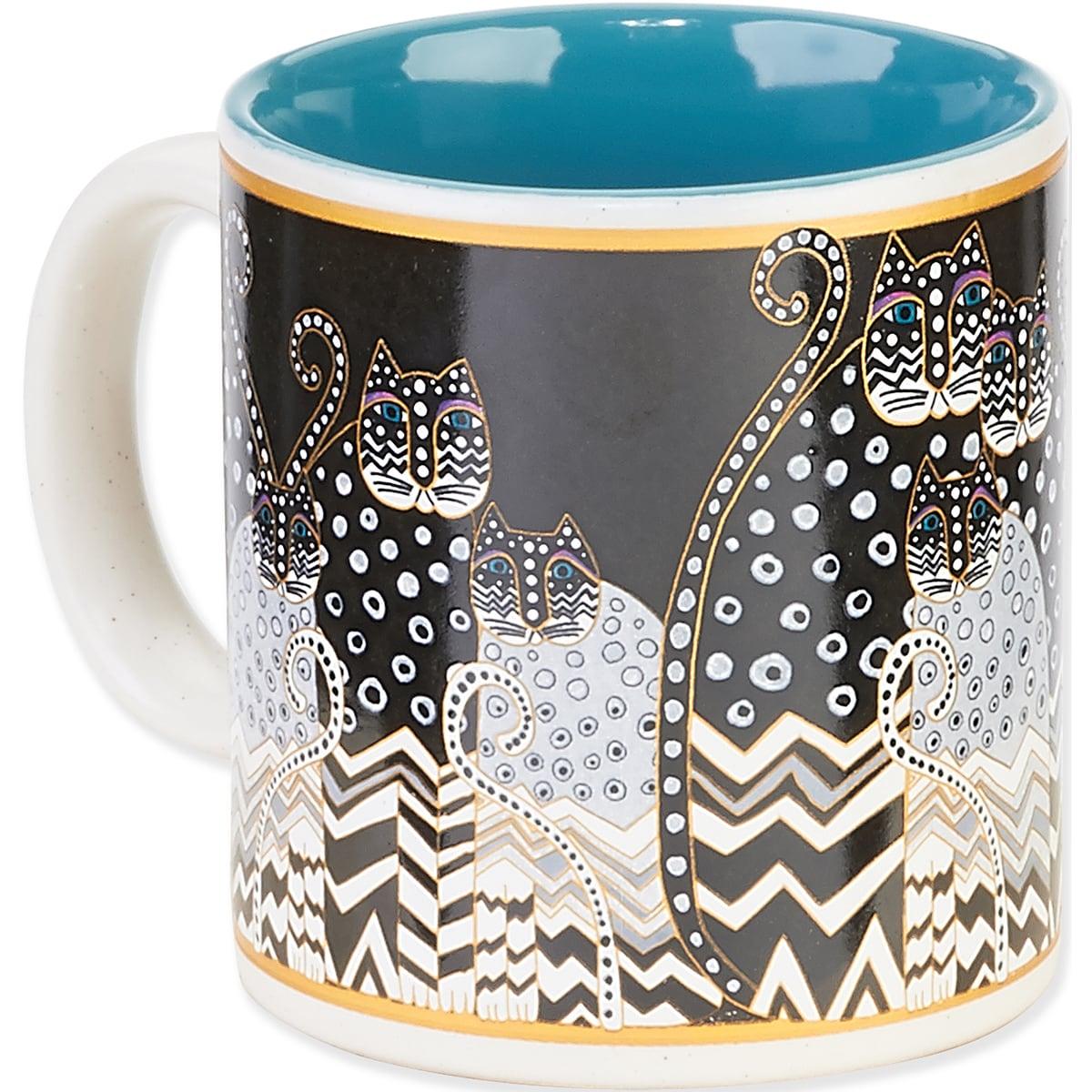 Laurel Burch Artistic Mug Collection-Polka Dot Gatos (Pol...