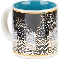 Laurel Burch Artistic Mug Collection-Polka Dot Gatos