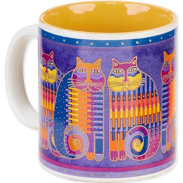 Laurel Burch Artistic Mug Collection-Rainbow Cat Cousins