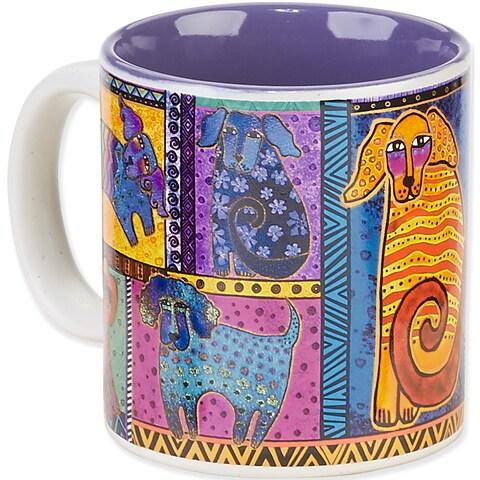 Laurel Burch Artistic Mug Collection-Dog Tails Patchwork