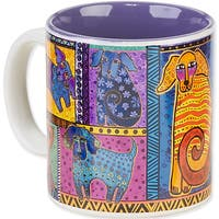 Laurel Burch Artistic Mug Collection-Dog Tails Patchwork