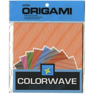 """Origami Paper 6""""X6"""" 40/Pkg-Colorwave"""