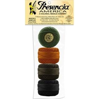 Presencia America Perle Cotton Balls Sampler-Bertie's Winter 4/Pkg