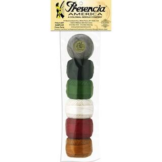 Presencia America Perle Cotton Balls Sampler-Folk Art 6/Pkg