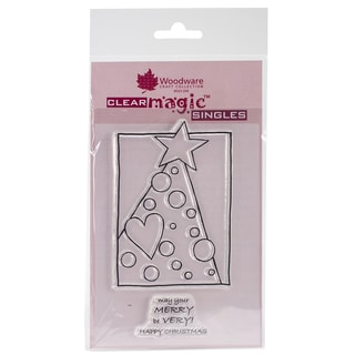 """Woodware Clear Stamps 5.5""""X3.5"""" Sheet-Treemendous Dots"""