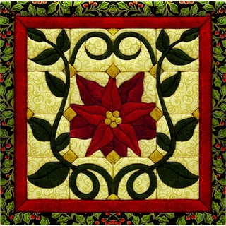 "Christmas Poinsettia Quilt Magic Kit-12""X12"""