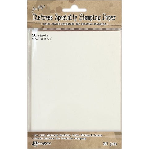 """Distress Specialty Stamping Paper 4.25""""X5.5"""" 20 Sheets"""