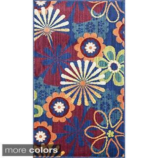 Tinsley Retro Floral Multi Rug (1'7 x 2'6)