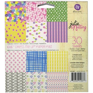 "Julie Nutting Double-Sided Paper Pad 6""X6"" 30/Sheets-Kaleidoscope"
