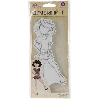 "Julie Nutting Cling Rubber Stamps 3.3""X7.2""-Chiara"