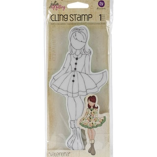 "Julie Nutting Cling Rubber Stamps 3.3""X7.2""-Valentina"