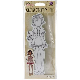 """Julie Nutting Cling Rubber Stamps 2.6""""X7.4""""-Keira"""