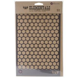 "Elementals Stencil 6.5""X10.25""-Honeycomb"