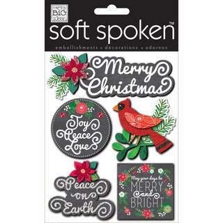 Soft Spoken Themed Embellishments-Ellen- Merry Christmas