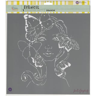 "Prima Bloom Stencil 12""X12""-Sharon"