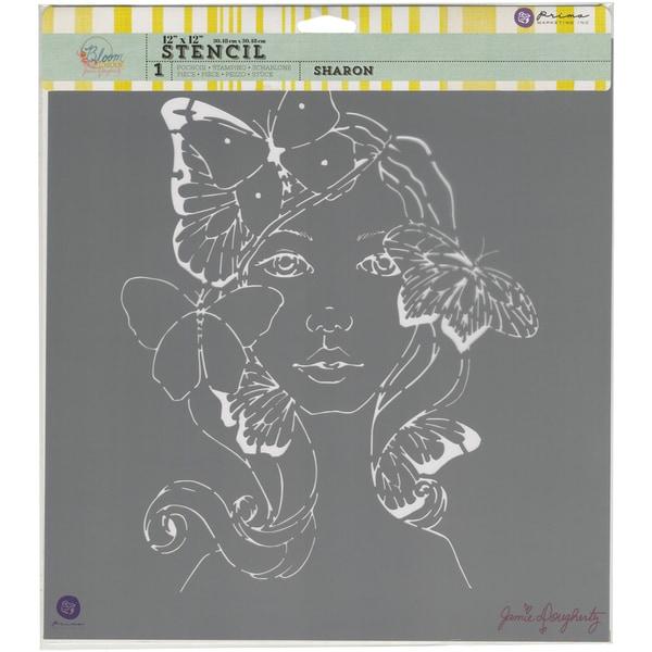 """Prima Bloom Stencil 12""""X12""""-Sharon"""