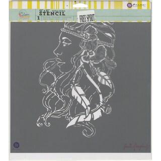 """Prima Bloom Stencil 12""""X12""""-Free Spirit"""