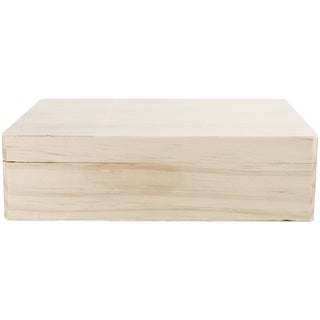 Wood Memory Box Hinged Lid 12X9.125X3.25in