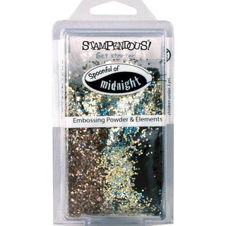 Stampendous Spoonfull of Embossing Powder & Elements-Midnight