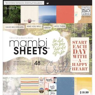 "Mambi Paper Pad 12""X12"" 48/Pkg-Encouraging Words"