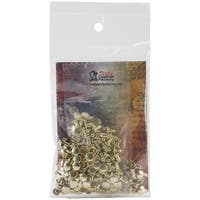 "Double Cap Rivet Extra Small .1875"" 100/Pkg-Brass Plated"