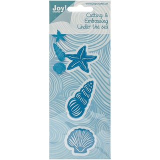 Joy! Crafts Cut & Emboss Die-Starfish/2 Shells, To 2.125""