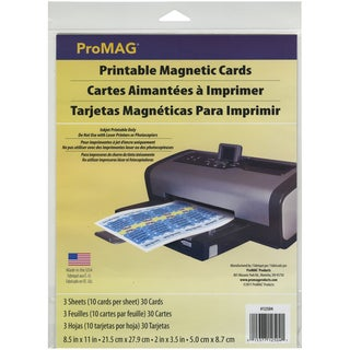 "ProMAG Printable Magnetic Cards-2""X3.5"" 10 Cards/Sheet 3 Sheets/Pkg"