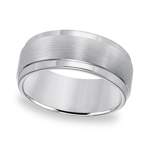 Cambridge Tungsten Carbide Edge Step Comfort Fit Ring