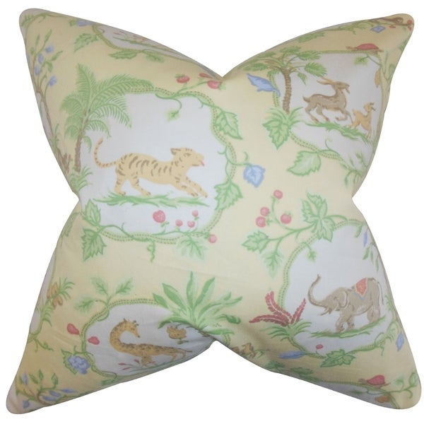 Shop Caledon Floral 40inch Feather And Down Filled Decorative Amazing Down Filled Decorative Pillows