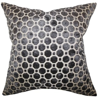 Kostya Black Geometric Feather and Down Filled Pillow