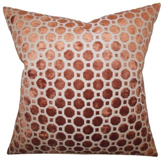 Kostya Copper Geometric 18-inch Feather and Down Filled Pillow