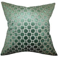 Kostya Emerald Geometric 18-inch Feather and Down Filled Pillow
