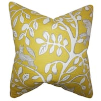 Honorine Floral 18-inch Feather and Down Filled Decorative Throw Pillow