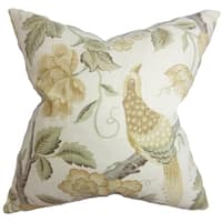 Iselin Floral 18-inch Feather and Down Filled Decorative Throw Pillow