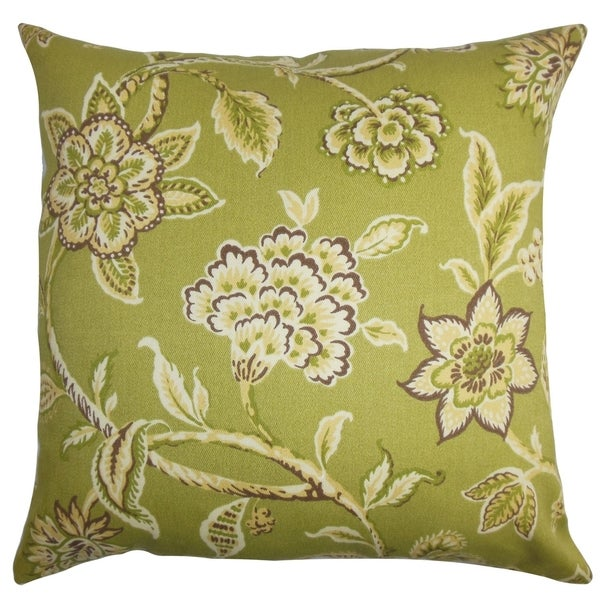 Shop Walcott Green Floral Outdoor 18 Inch Feather And Down