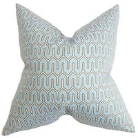 Aleeza Geometric 18-inch Decorative Feather and Down Filled Throw Pillow