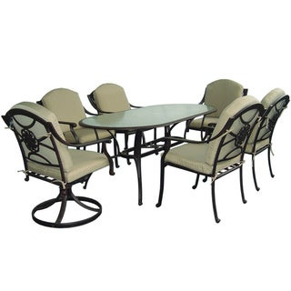 Rose 7-piece Antique Bronze Dining Set