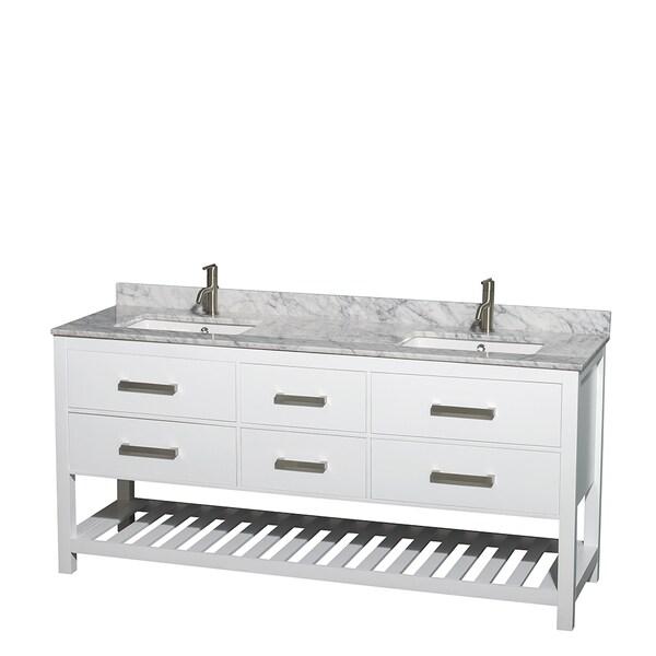 wyndham collection natalie 72inch white um square sink double bathroom vanity