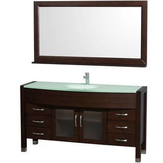 Wyndham Collection Daytona 60-inch Espresso Single Bathroom Vanity