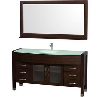 "Wyndham Collection Daytona 60-inch Espresso Single Bathroom Vanity (Option: 60"" - Espresso/Green)"