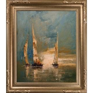 Justyna Kopania 'Boats' Framed Fine Art Print