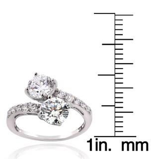 ICZ Stonez Sterling Silver Cubic Zirconia Twist Ring