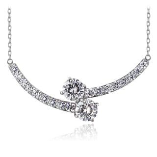 ICZ Stonez Sterling Silver Cubic Zirconia Twist Necklace