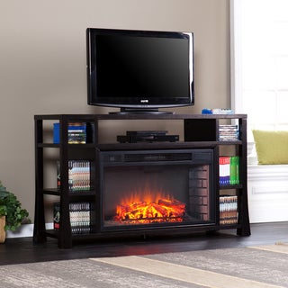 Harper Blvd Dahlia 55-inch Ebony Stain Media Electric Fireplace