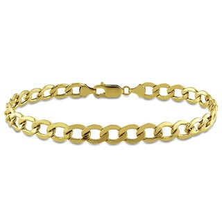 Link to Miadora Men's Curb Chain Bracelet in 10k Yellow Gold Similar Items in Men's Jewelry