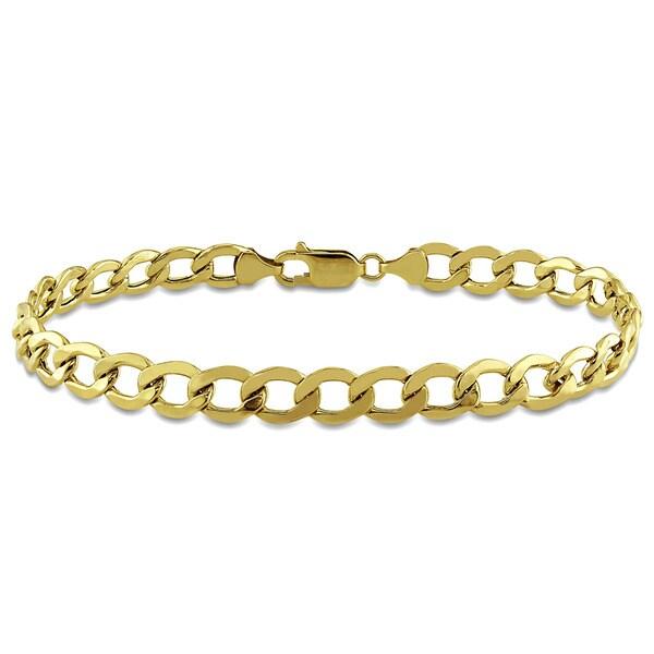 Miadora Men's Curb Chain Bracelet in 10k Yellow Gold