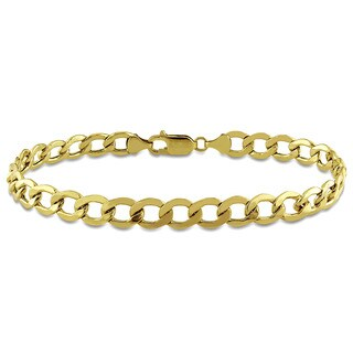 Miadora Men's Curb Chain Bracelet in 10k Yellow Gold
