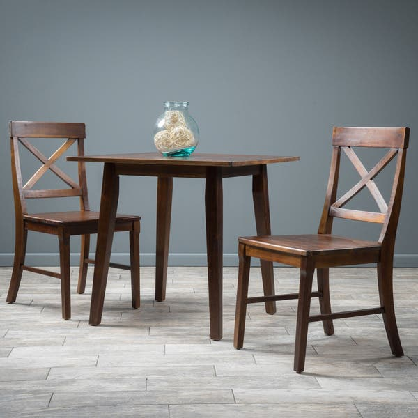 Wondrous Shop Carridge Square 3 Piece Wood Dining Set By Christopher Theyellowbook Wood Chair Design Ideas Theyellowbookinfo